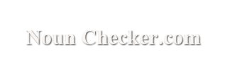 Noun Checker
