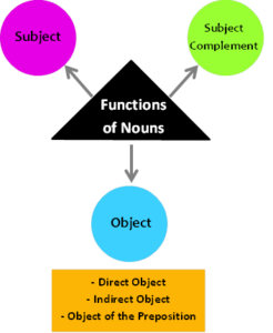 different functions of nouns examples